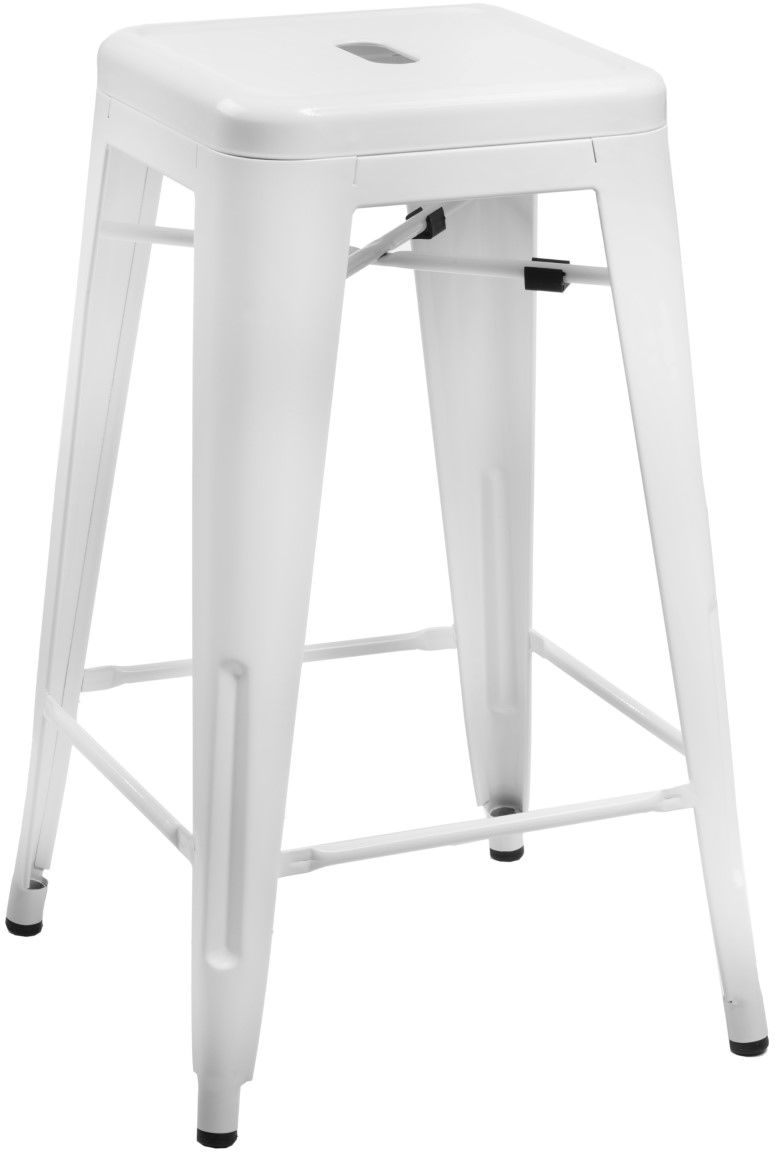 D2 Hoker Paris 75cm biały insp. Tolix
