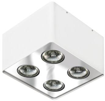 Plafon Nino 4 AZ0851 AZzardo kwadratowa oprawa w kolorze białym