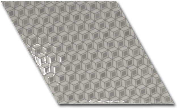 Rhombus Wall Grey Pattern 15,2x26,3