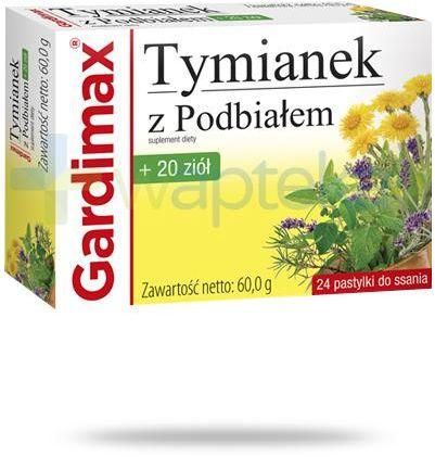 Gardimax Tymianek z Podbiałem + 20 ziół 24 pastylki