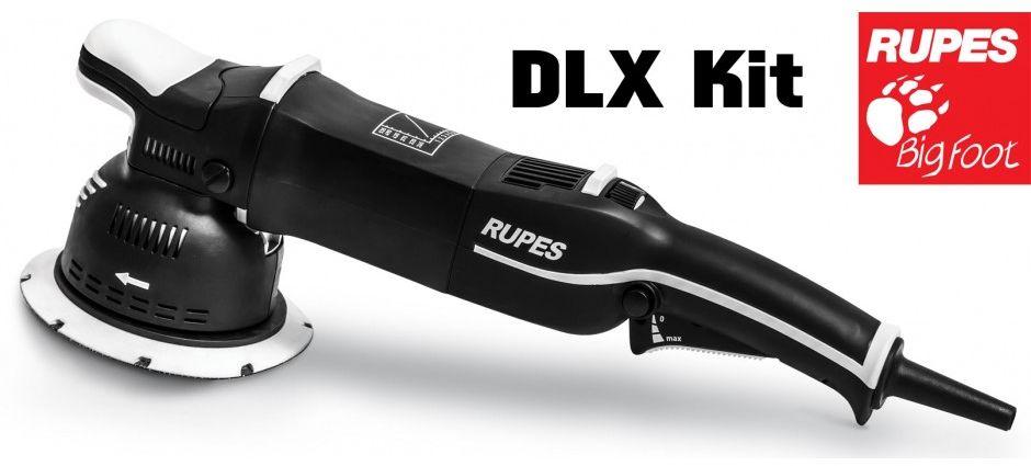 RUPES BigFoot Mille LK 900E DLX - planetarna maszyna polerska zestaw z torbą i akcesoriami 900W