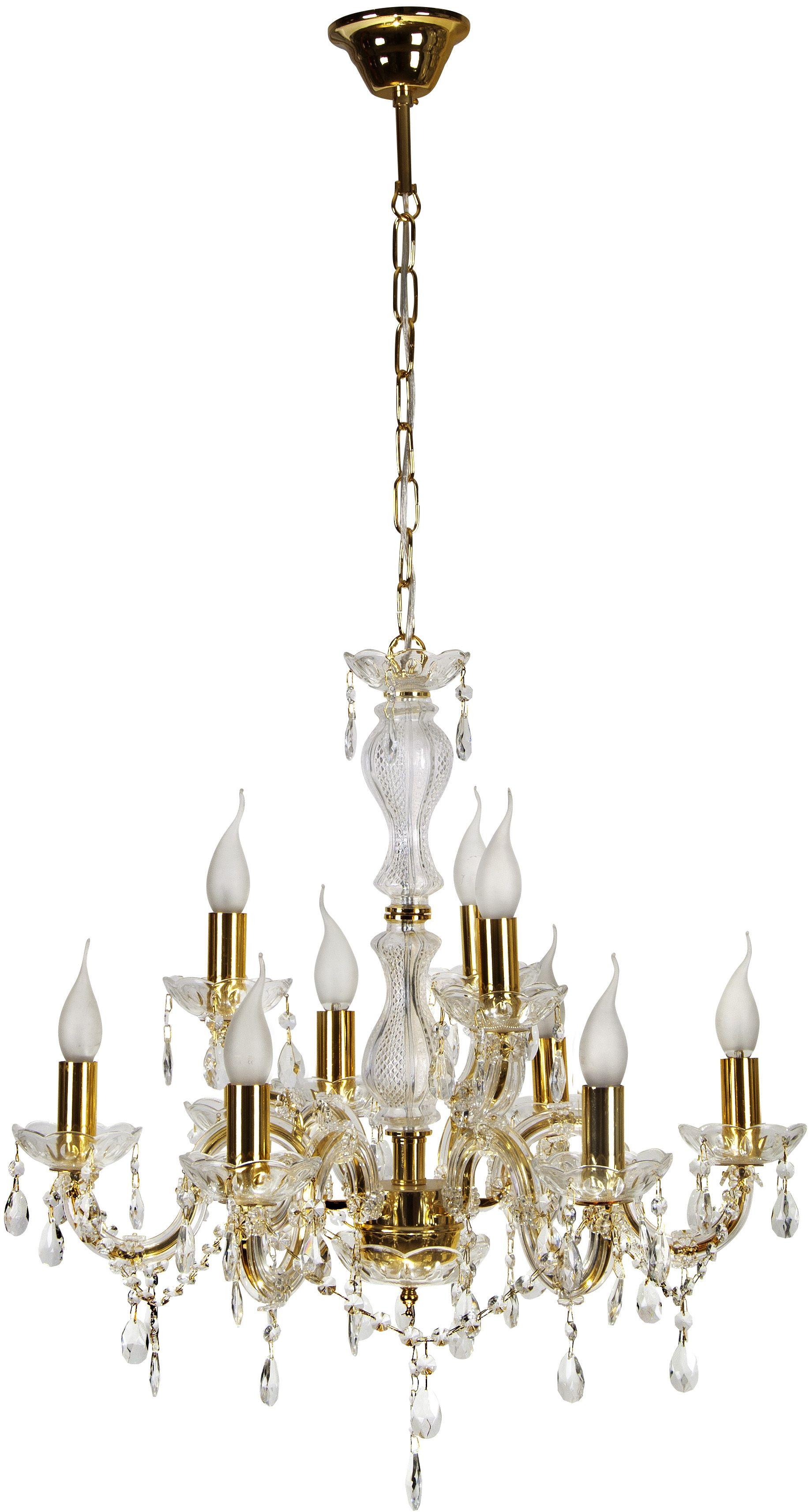 Candellux MARIA TERESA 39-95841 żyrandol złoty kryształy 9X40W E14 62cm