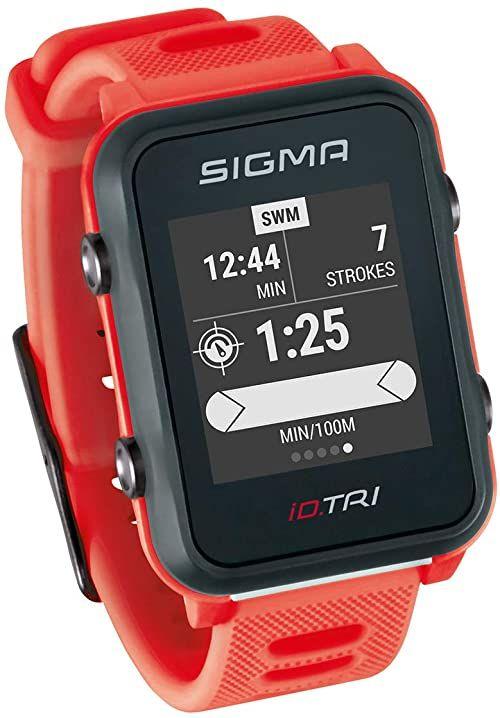 SIGMA SPORT Unisex zegarek triatlonowy ID.TRI GPS, neonowy czerwony,