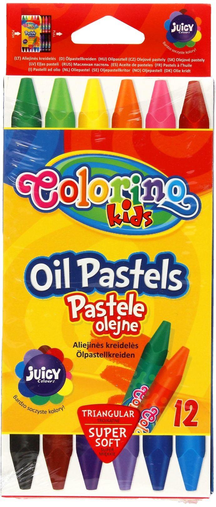 Pastele olejne 12kol trójkątne Colorino