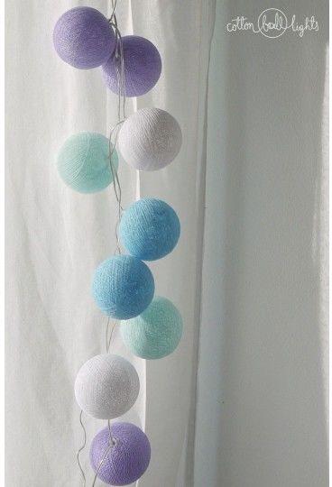 Kolorowe kulki LED kompozycja - Baby lavender