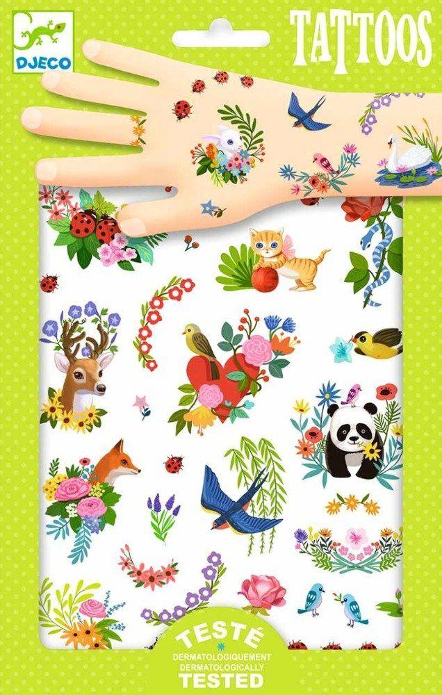 Zmywalne tatuaże dla dzieci Wiosenny powiew, DJ09591-Djeco, tatuaże
