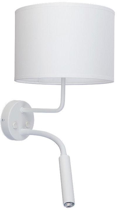 Kinkiet Hotel Plus 9073 Nowodvorski Lighting podwójna biała oprawa w nowoczesnym stylu