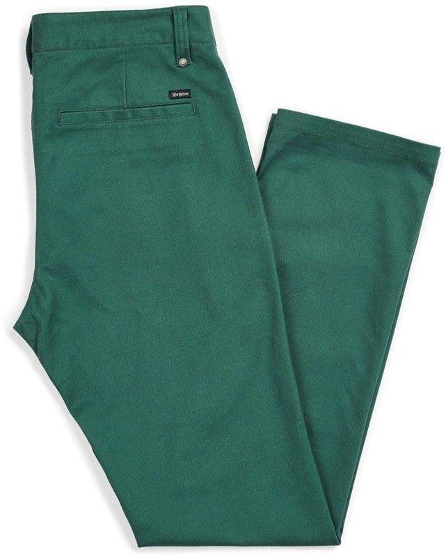 spodnie BRIXTON - Reserve Chino Pant Emerald (EMRLD