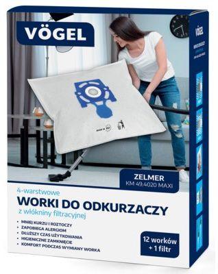 Worki do odkurzacza VÖGEL KM 49.4020 (13 sztuk) WYBRANY PIĄTY PRODUKT ZA 1ZŁ