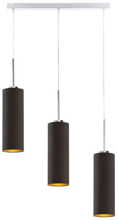 Lampa wisząca z podłużnymi kloszami na stalowym stelażu - EX393-Bornela - 5 kolorów