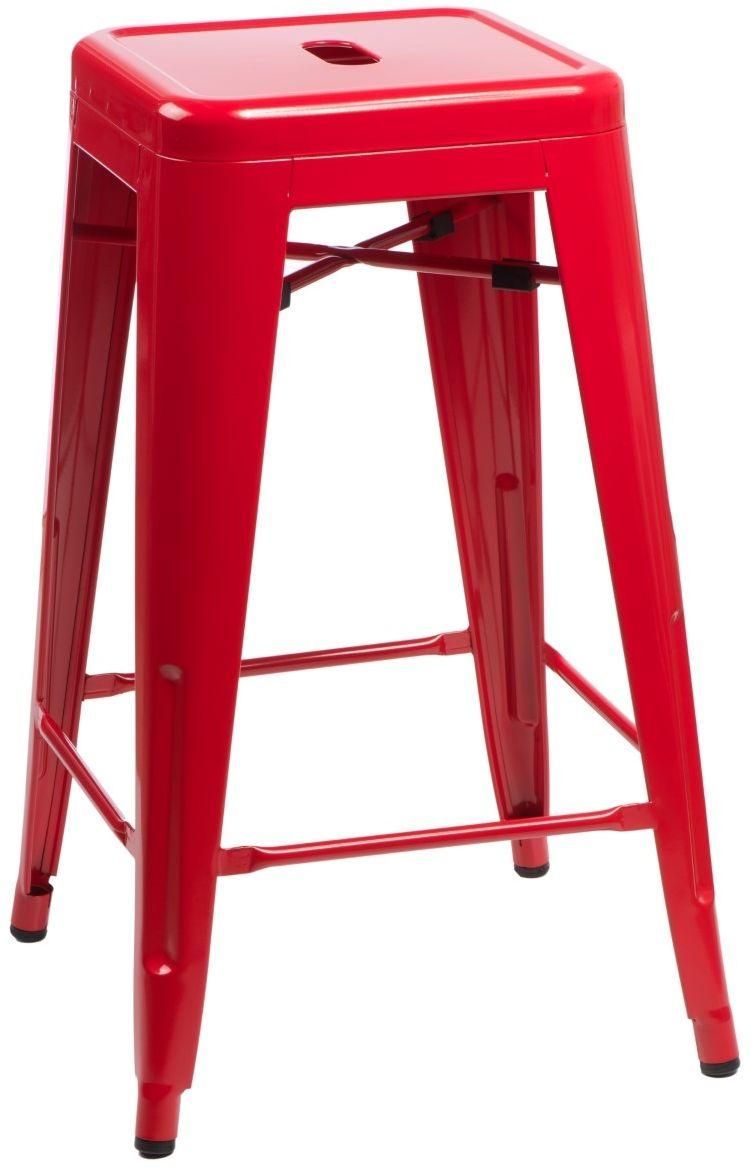 D2 Hoker Paris 75cm czerwony insp. Tolix