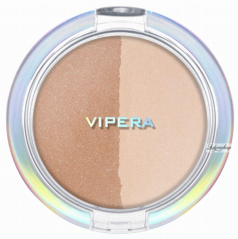VIPERA - ART OF COLOR - COMPACT POWDER - Puder transparętny + bronzer - DUO TRANSPARENT/ BRONZER - 203