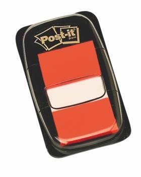 Zakładki POST-IT 25 X 43 mm pomarańczowe 50 kartek - X04454