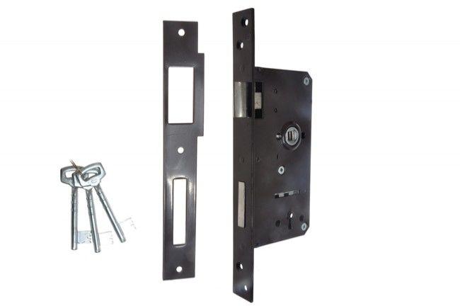 Zamek wpuszczany bramowy 90/63,5 n/klucz lakier prawy