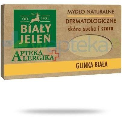 Biały Jeleń Apteka alergika mydło naturalne dermatologiczne glinka biała 125 g
