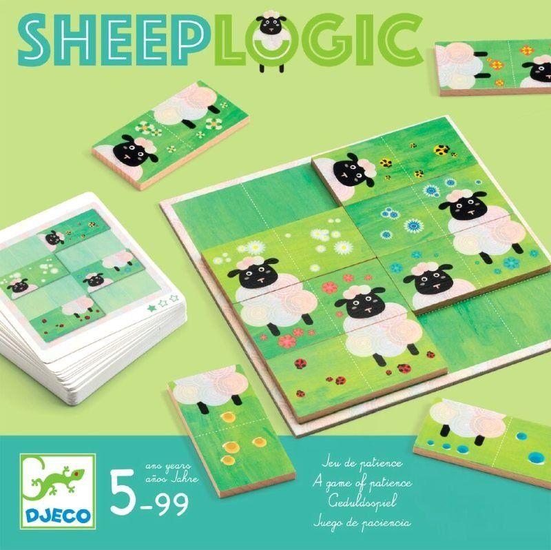 Domino dla dzieci Logiczne owieczki DJ08473-Djeco, gry edukacyjne