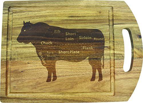Fackelmann 688536 deska do krojenia akacja, drewno, brązowa, 39 x 28 x 1 cm