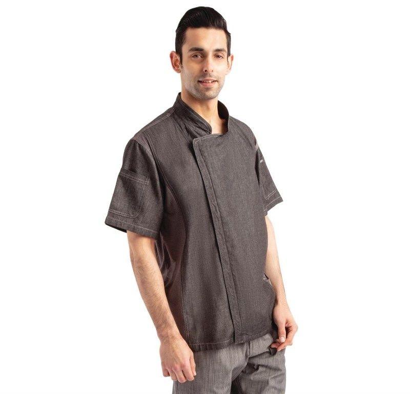 Koszula kucharska Urban Delancey krótki rękaw denim rozmiary XS-XL