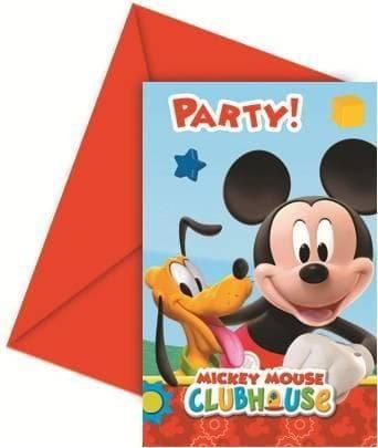 Zaproszenia Myszka Mickey, Mickey Mouse, 6 szt.