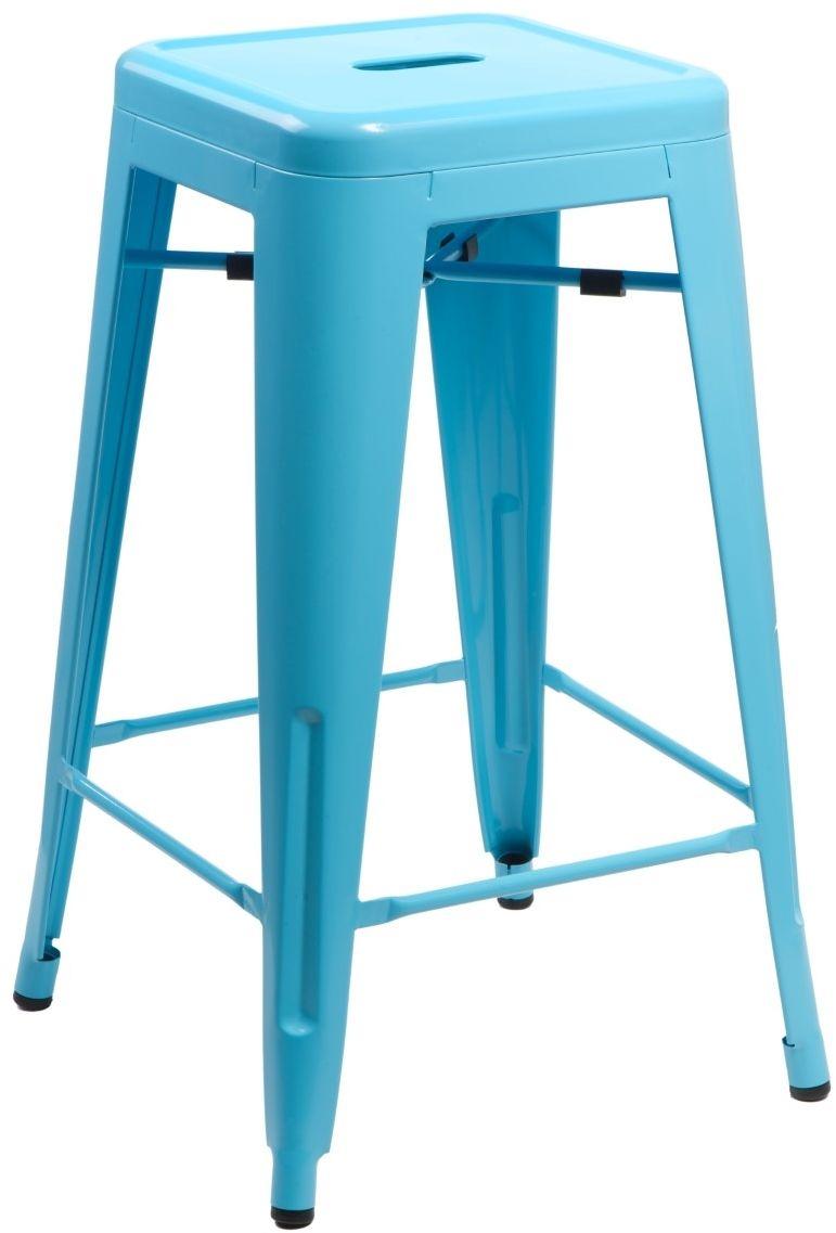 D2 Hoker Paris 75cm niebieski insp. Tolix