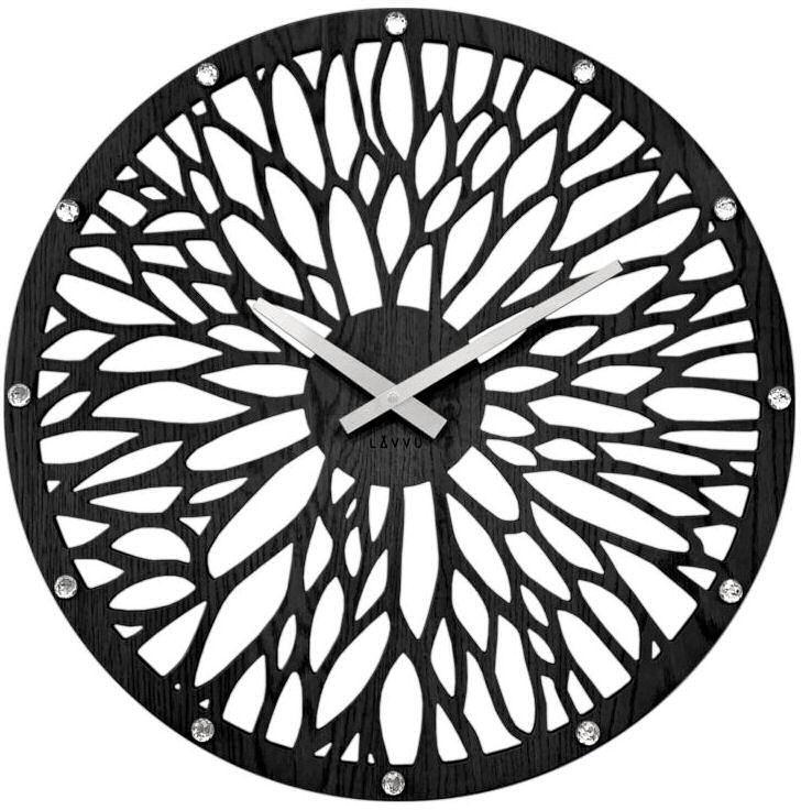 Zegar ścienny Lavvu LCT1182 z kryształkami, średnica 49 cm