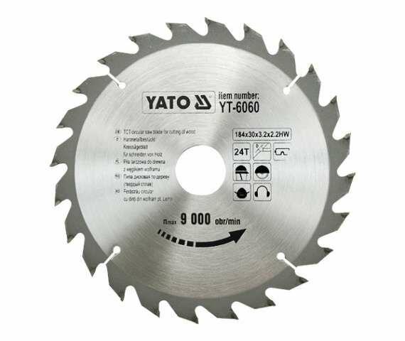 TARCZA WIDIOWA 184X24TX30 MM Yato YT-6060 - ZYSKAJ RABAT 30 ZŁ