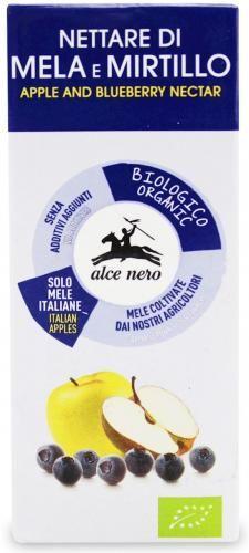 Nektar jabłkowo-borówkowy BIO 200 ml Alce Nero