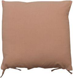 HomeMaison Poduszka wymywana, len, dąb, różowy, 45 x 45 cm