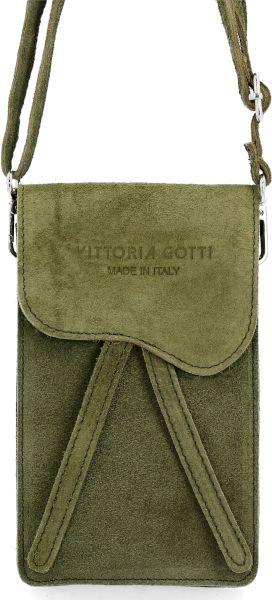 Uniwersalne Torebki Skórzane Listonoszki firmy VITTORIA GOTTI Khaki (kolory)