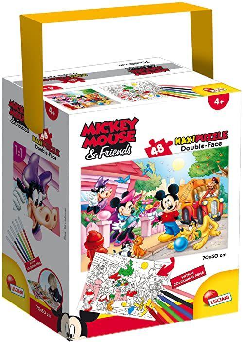 Lisciani Spiele - Myszka Miki Puzzle w tubce Maxi 48 części Mickey, wielokolorowe, 60023