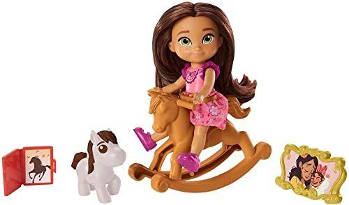 """Spirit GXF11 - """"Spirit Untamed"""" Lucky Lucky Lucky Lucky Lucky Lucky (10 cm), 5 ruchomych stawów i akcesoriów: koń na biegunach, świetny prezent dla dzieci od 3 roku życia"""