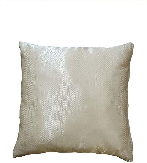 Bel Air Python 0199987-0001 żakardowa poduszka, nadruk węża, błyszcząca, z zamkiem błyskawicznym, 40 x 40 cm, kolor naturalny