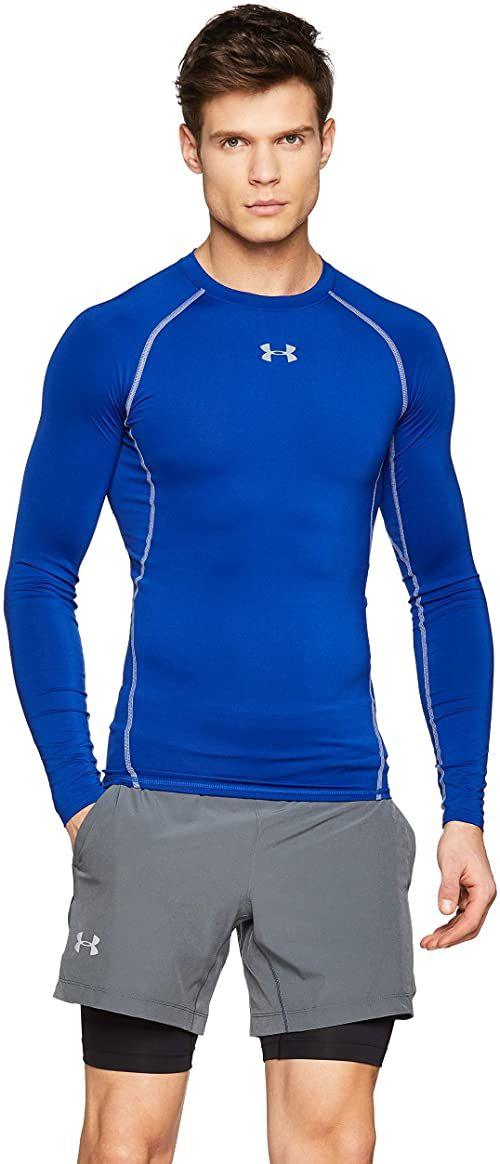 adidas damska koszulka kompresyjna Heatgear męska z długim rękawem Royal/Steel XXL