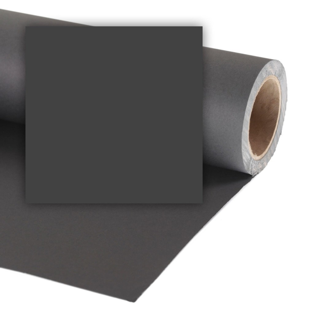 Colorama CO968 Black - tło fotograficzne 2,18m x 11m