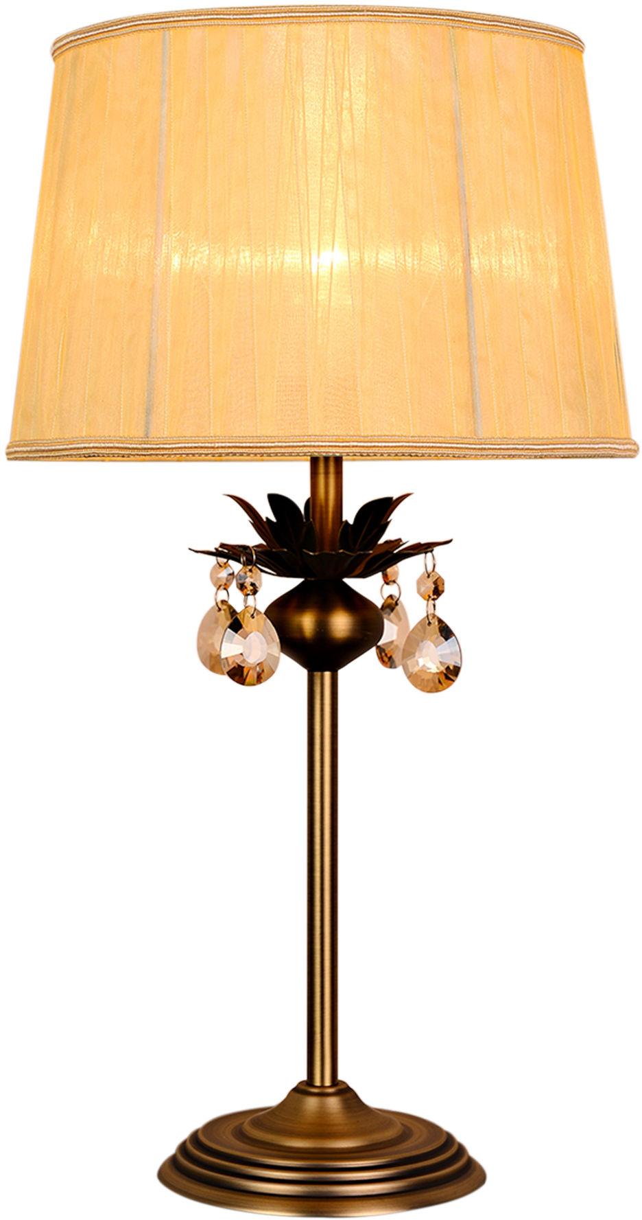 Candellux ADONIS 41-27535 lampa stołowa patyna kryształki patyna 1X60W E27 30cm