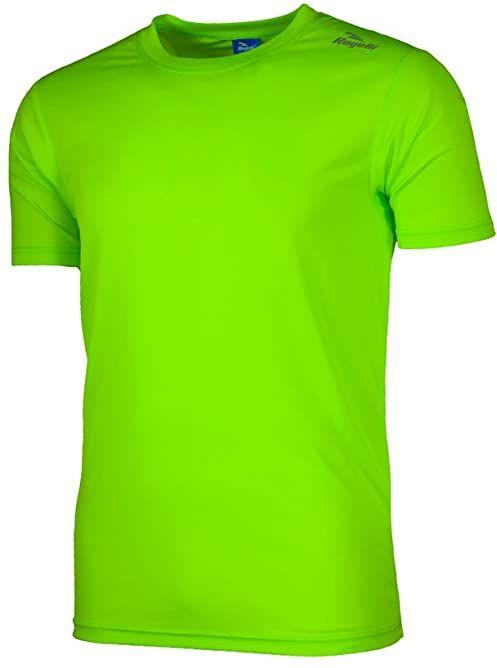 Rogelli Męska koszulka do biegania Promo, fluorescencyjna/zielona, M