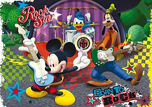 Clementoni 23637.4 - Puzzle Maxi, Mickey Mouse Club House: The Rock and Roll Band, 104 części