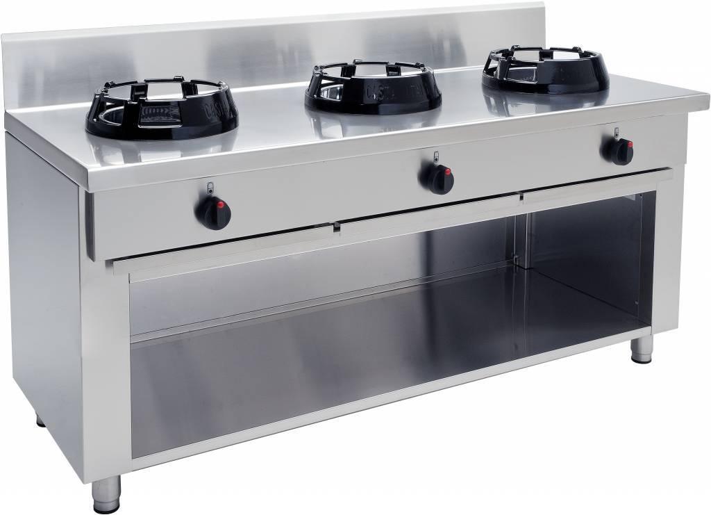 Kuchnia wok gazowa 3 palnikowa 42000W