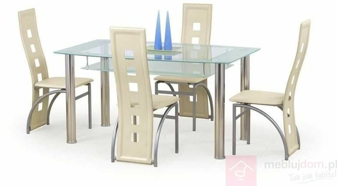 KUPON 10% NA STRONIE  Stół CRISTAL Halmar Przezroczysty, 90x150 cm
