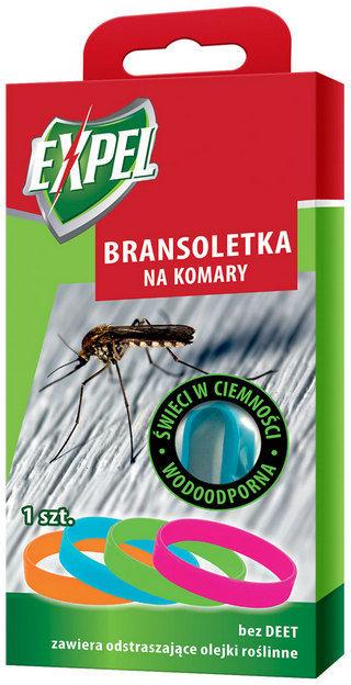 EXPEL Bransoletka na komary świeci w ciemności, wodoodpo