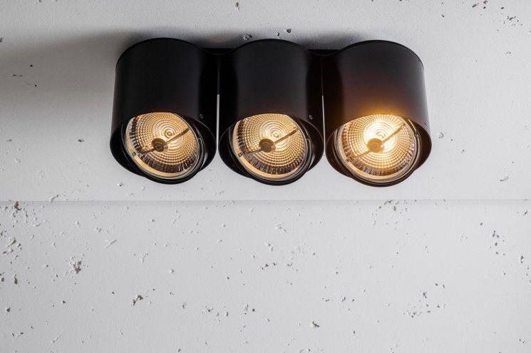 Oprawa natynkowa Nex NT 3 QR111 50W 3.0407 Labra potrójna oprawa w nowoczesnym stylu