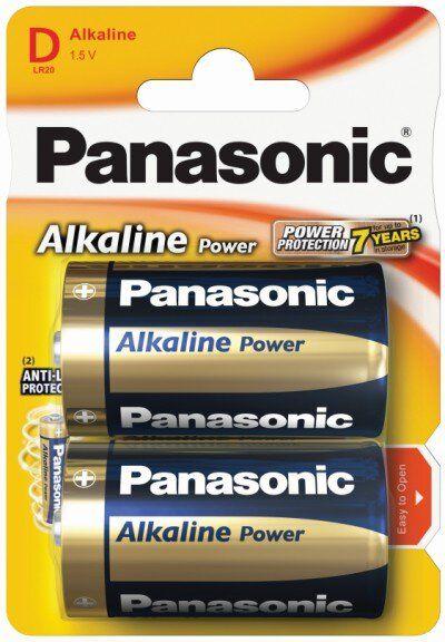 Baterie Panasonic Alkaline Power LR20 / D 2 sztuki