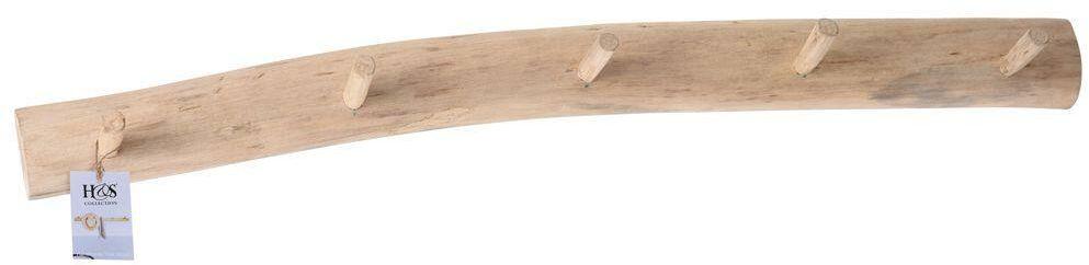 Wieszak drewniany na ubrania odzież garderobę 80 cm do przedpokoju łazienki