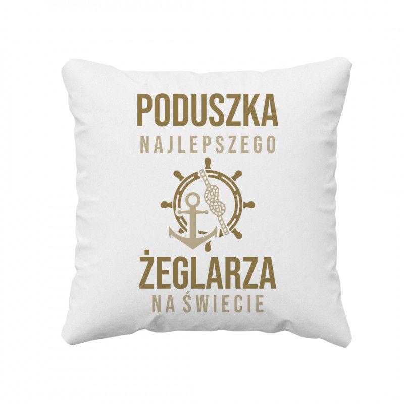 Poduszka najlepszego żeglarza na świecie - poduszka z nadrukiem
