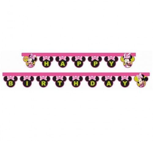 """Baner urodzinowy """"Minnie Mouse Happy Birthday"""""""
