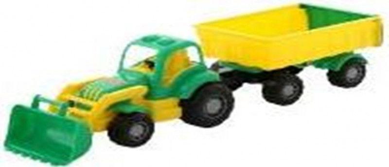 Pojazd Osiłek Traktor z przyczepą i łyżka