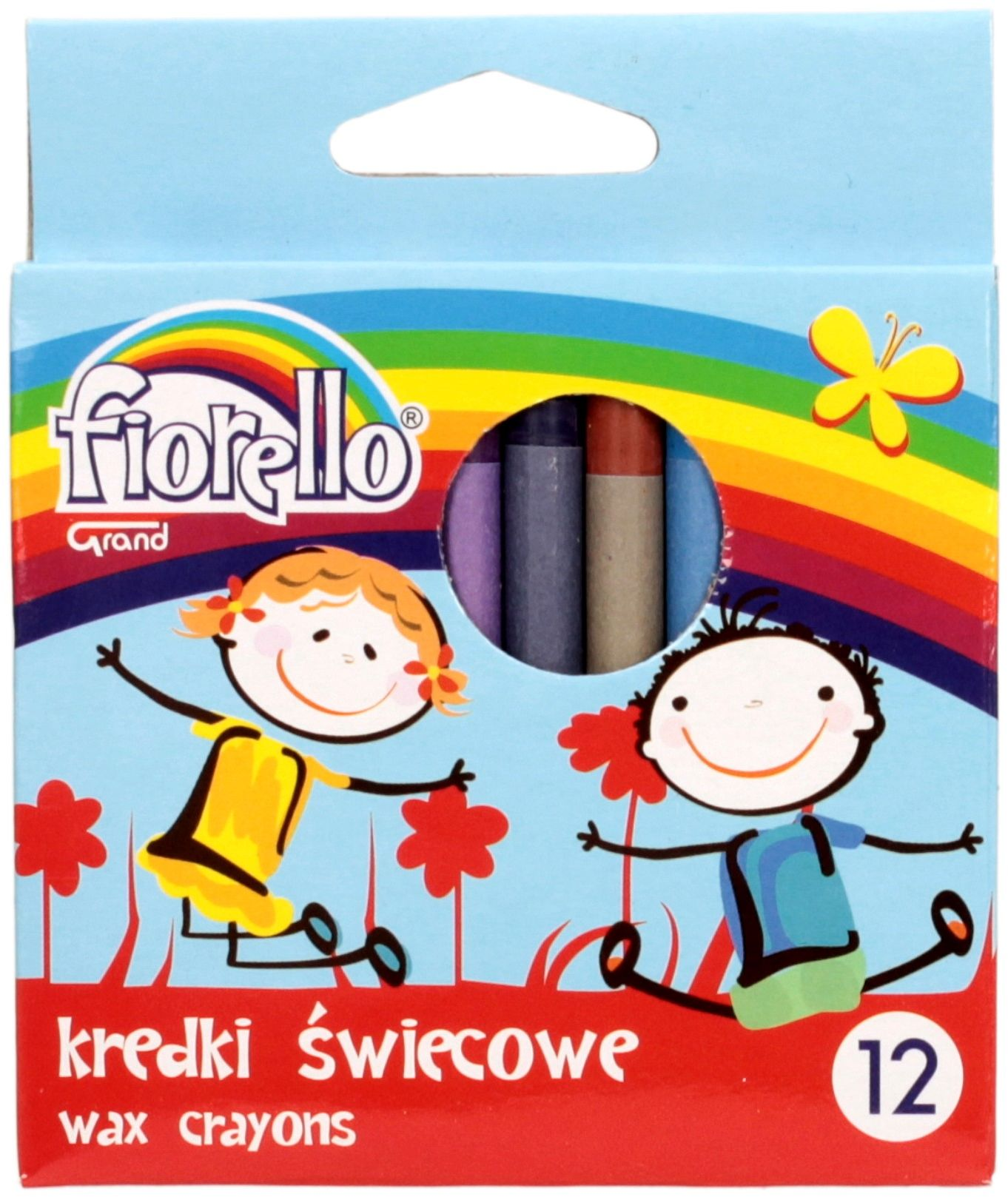 Kredki świecowe 12kol Fiorello