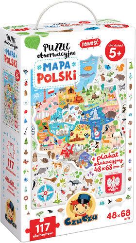 Puzzle Czu Czu - obserwacyjne Mapa Polski
