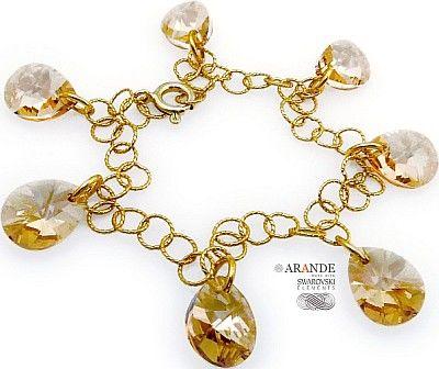 Swarovski Bransoletka Golden Złote Srebro
