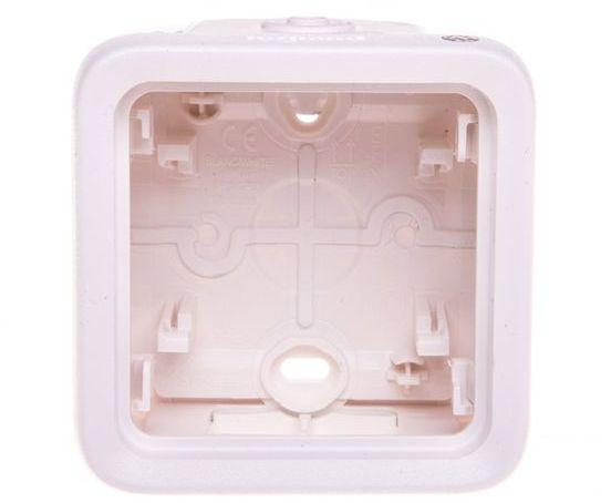 PLEXO55 Puszka natynkowa antybakteryjna pojedyncza biała 070741